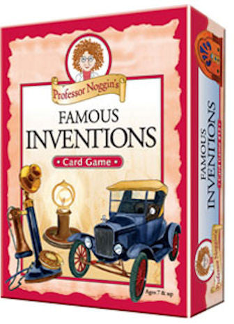Famous Inventions Professor Noggin's Card Game - EducationalLearningGames.com