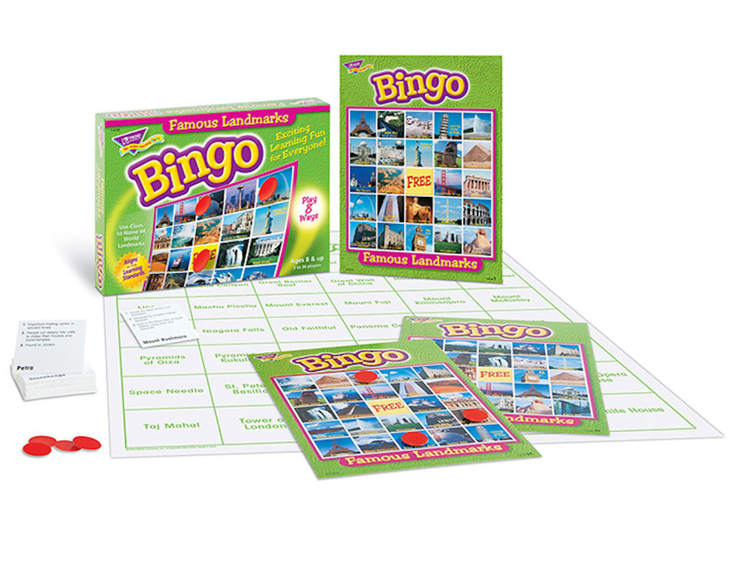 Famous Landmark Bingo Game - EducationalLearningGames.com