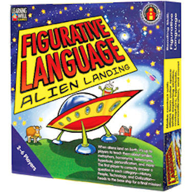 Figurative Language Alien Landing Game, Blue Level - EducationalLearningGames.com