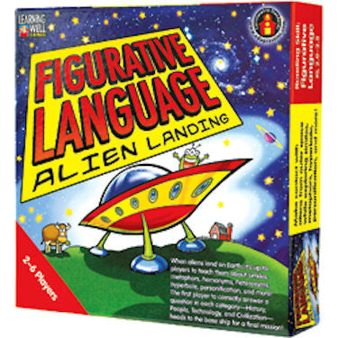Figurative Language Alien Landing Game, Red Level EducationalLearningGames.com