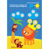 Find the Colors Bubbles Sticker Skill Book - EducationalLearningGames.com