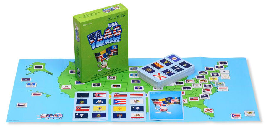 Flag Frenzy USA Card Game