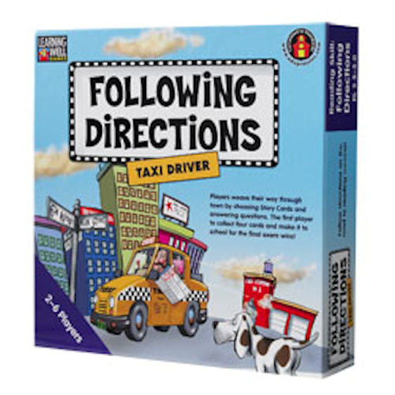 Following Directions Taxi Driver, Blue Level EducationalLearningGames.com
