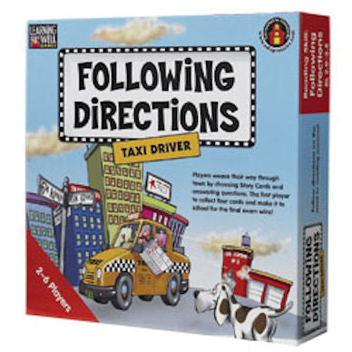 Following Directions Taxi Driver Game, Red Level - EducationalLearningGames.com