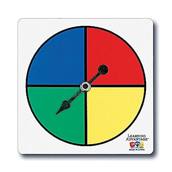 Four-Color Spinners, Set of 5 - EducationalLearningGames.com