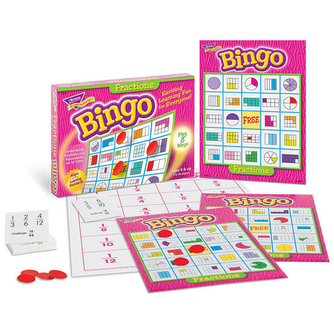 Fractions Bingo Game - EducationalLearningGames.com