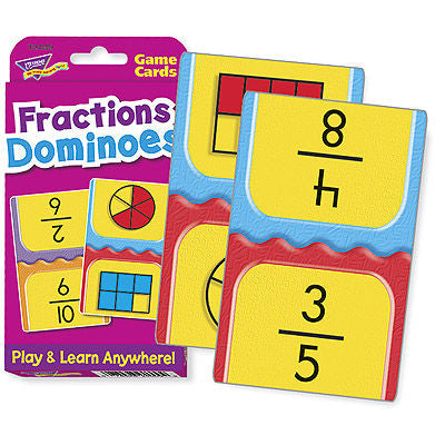 Fractions Dominoes Challenge Cards Game - EducationalLearningGames.com