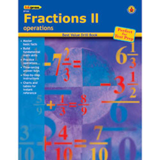 Fractions II Drill Books - EducationalLearningGames.com