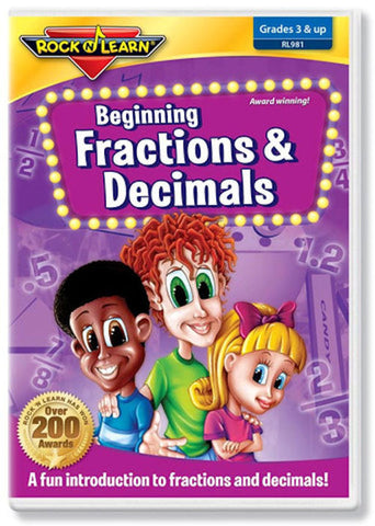 Fractions and Decimals Beginning DVD Video EducationalLearningGames.com