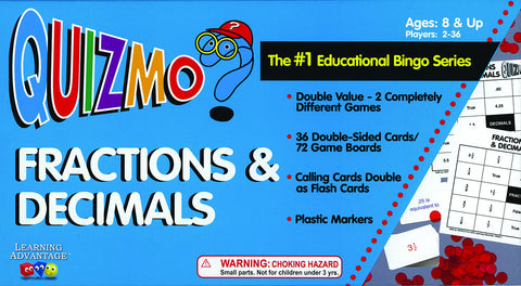 Fractions & Decimals Quizmo Game