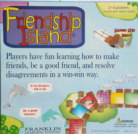 Friendship Island Communication Game - EducationalLearningGames.com