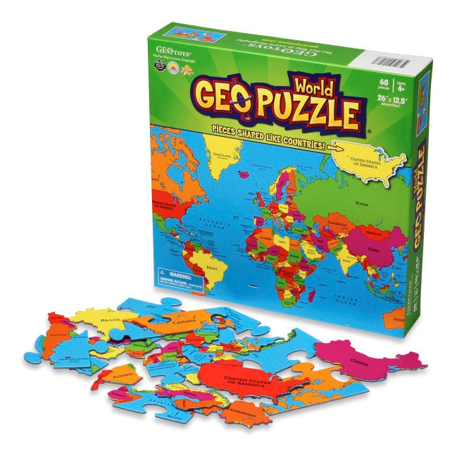 GEOPuzzle World Puzzle - EducationalLearningGames.com