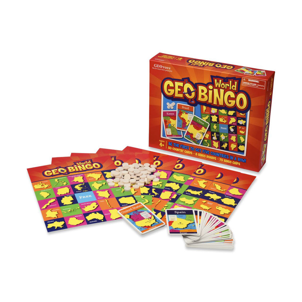 GEO World Bingo Game - EducationalLearningGames.com