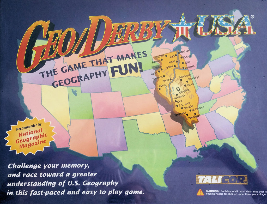 Geo Derby USA Game - EducationalLearningGames.com