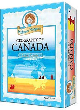Geography of Canada Professor Noggin's Card Game - EducationalLearningGames.com
