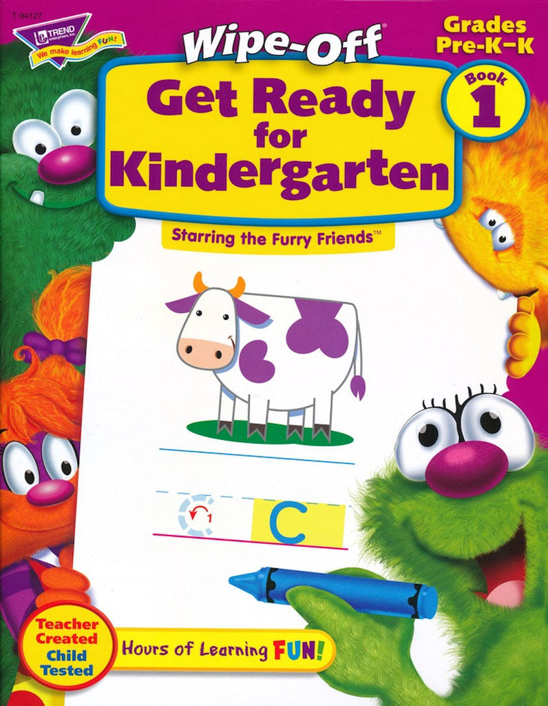 Get Ready for Kindergarten 1 Furry Friends Wipe-Off Workbook, Starring the Furry Friends  EducationalLearningGames.com