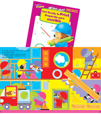 Get Ready to Print Spanish Wipe-off Workbook for Kids - EducationalLearningGames.com