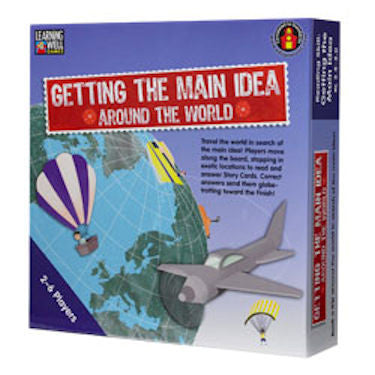 Getting The Main Idea Around the World Game, Blue Level EducationalLearningGames.com