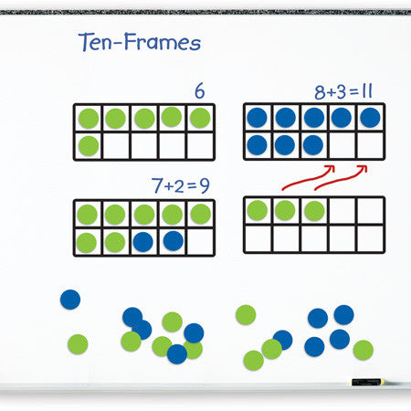 Giant Magnetic Ten-Frame Set - EducationalLearningGames.com