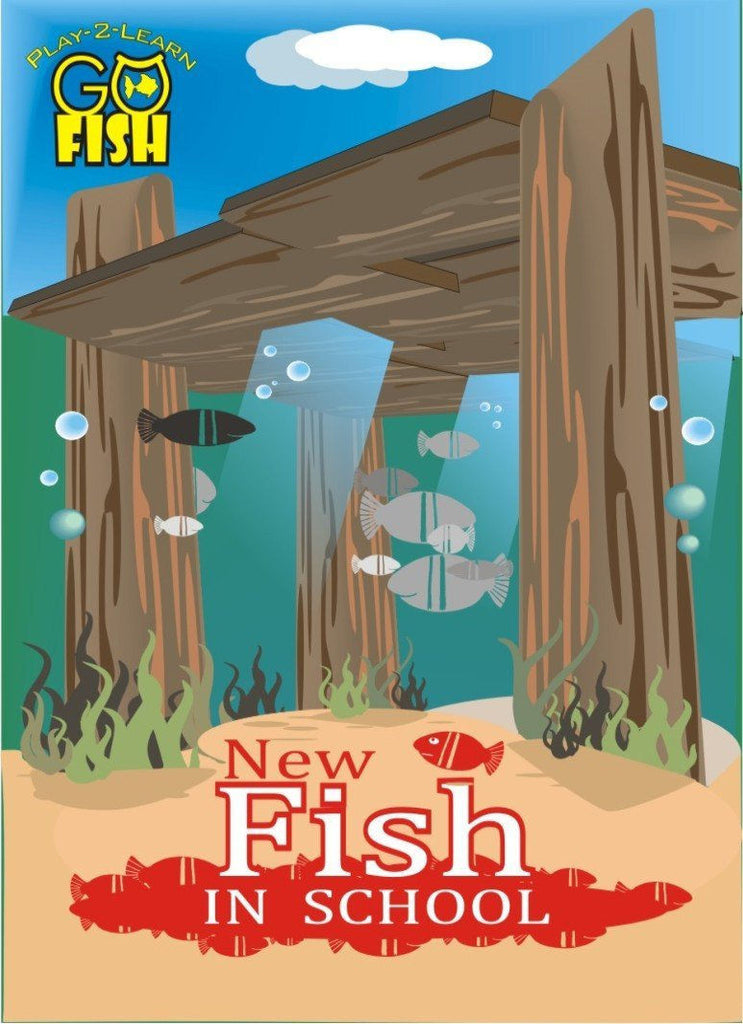 Play-2-Learn Go Fish New Fish In School Card Game - EducationalLearningGames.com