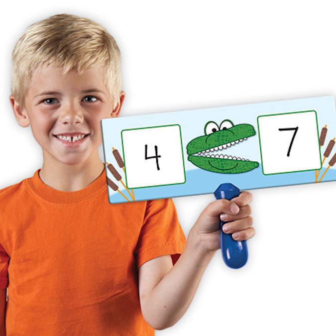 Write-on / Wipe-off Greater Gator Answer Boards, Set of 4