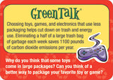 GreenTalk Conversation Cards Green Talk - EducationalLearningGames.com