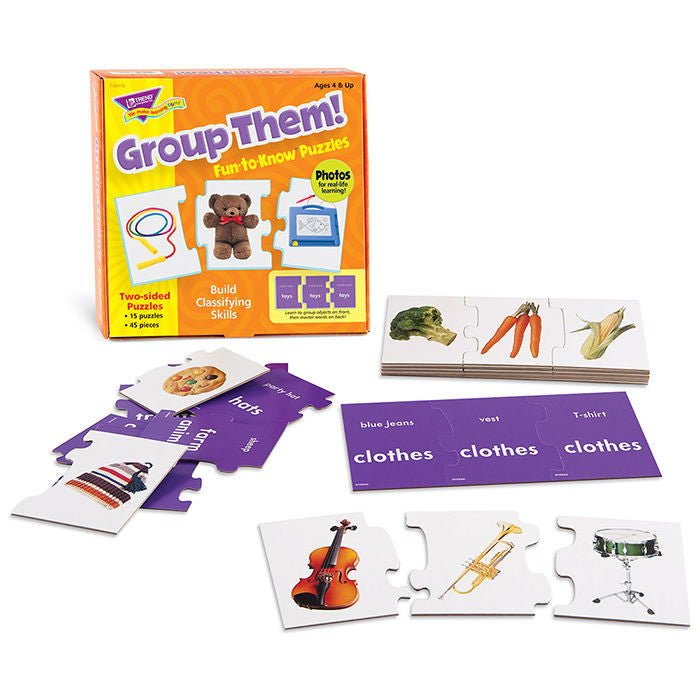 Group Them! Fun-to-Know Puzzles - EducationalLearningGames.com