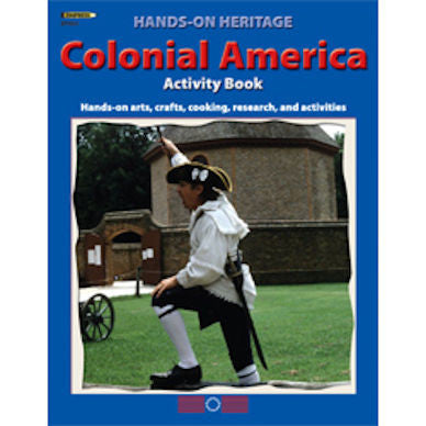 Hands-On Heritage Activity Book, Colonial America Workbook - EducationalLearningGames.com