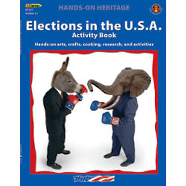 Hands-On Heritage Activity Book, Elections in the U.S.A. - EducationalLearningGames.com
