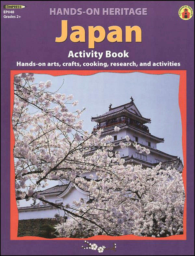 Hands-On Heritage Activity Book, Japan Workbook - EducationalLearningGames.com