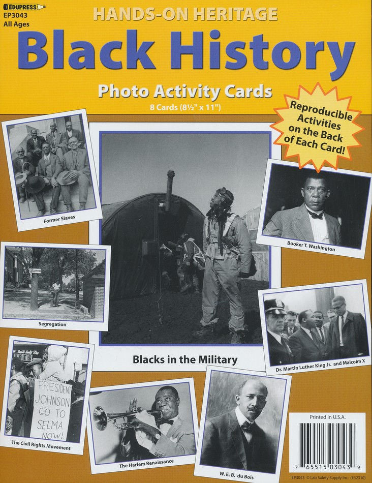 Hands-On Heritage Photo Activity Cards, Black History, EducationalLearningGames.com