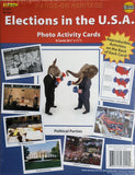 Hands-On Heritage Photo Activity Cards, Elections in the U.S.A EducationalLearningGames.com