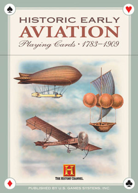 Historic Early Aviation Playing Cards From 1783-1909 - EducationalLearningGames.com