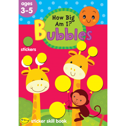 How Big Am I Bubbles Sticker Skill Book - EducationalLearningGames.com