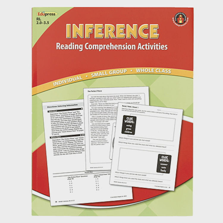 Inference Reading Comprehension Activity Book, 2.0-3.5 - EducationalLearningGames.com