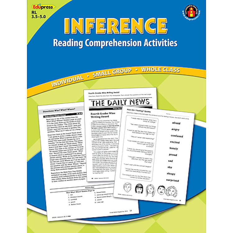 Inference Reading Comprehension Activity Book, 3.5–5.0 - EducationalLearningGames.com