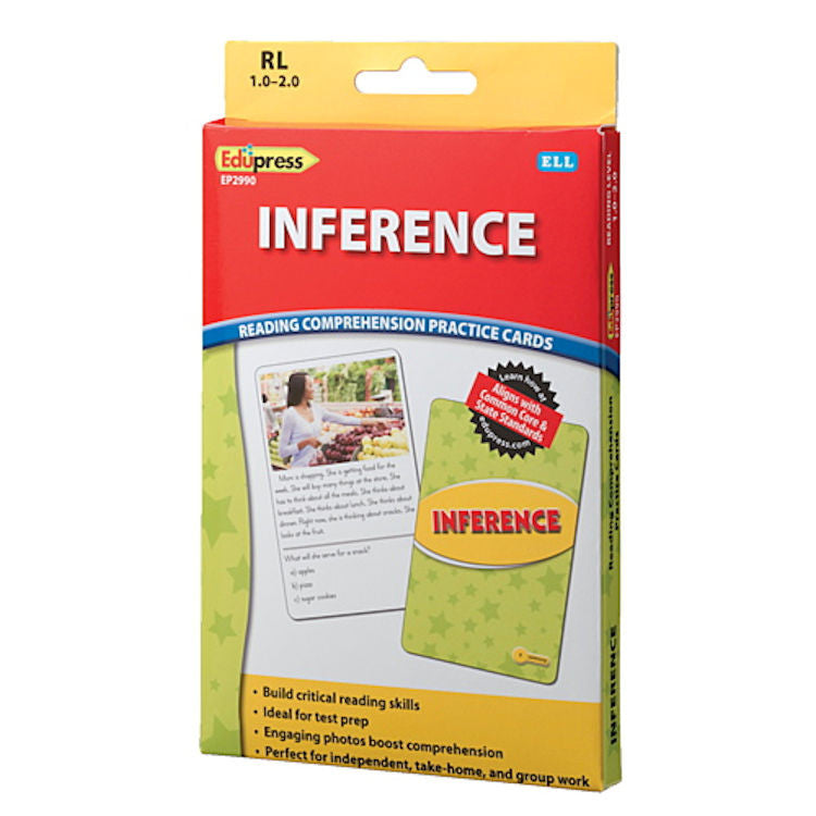 Inference Reading Comprehension Practice Cards, Yellow Level