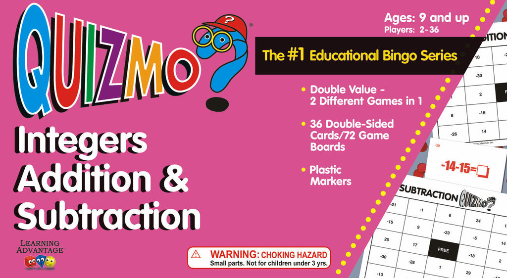 Integers Addition and Subtraction Quizmo - EducationalLearningGames.com