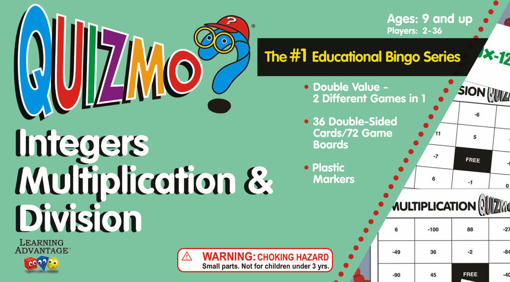 Integers Multiplication and Division Quizmo Game - EducationalLearningGames.com