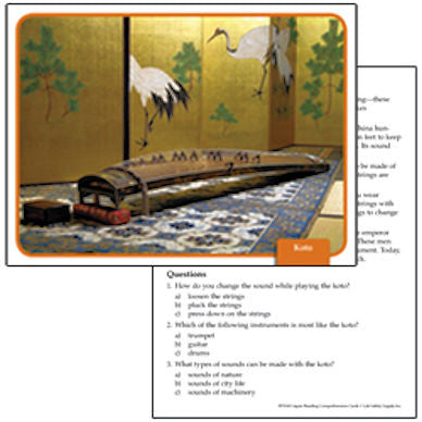 Japan Social Studies Reading Comprehension Cards - EducationalLearningGames.com
