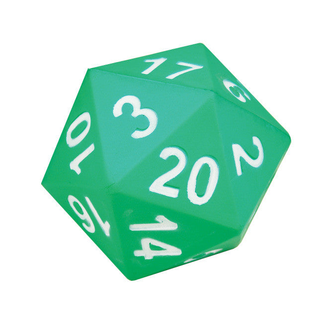 Jumbo 20-Sided Demonstration Foam Polyhedral Die - EducationalLearningGames.com