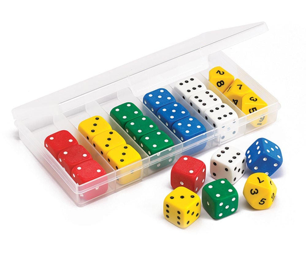 Jumbo Dice Classroom, Set of 24 Dice - EducationalLearningGames.com