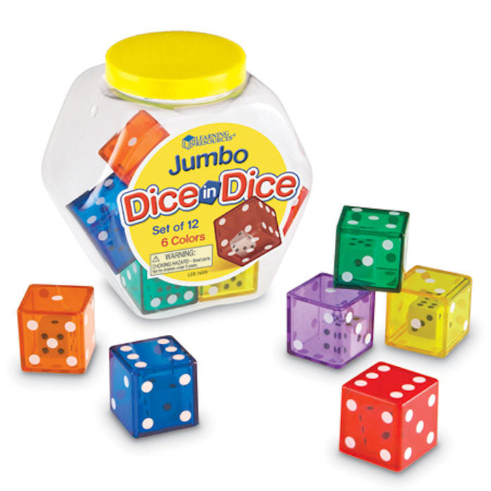 Jumbo Dice in Dice - EducationalLearningGames.com