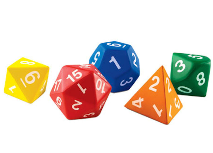 Jumbo Foam Polyhedral Dice - EducationalLearningGames.com