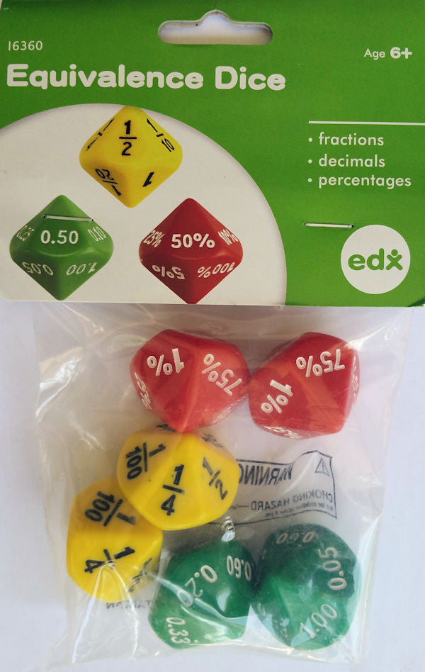 Large Equivalence Dice - EducationalLearningGames.com