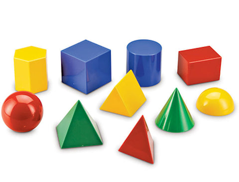 Large Geometric Shapes, Set of 10 Ages 5 - Adult