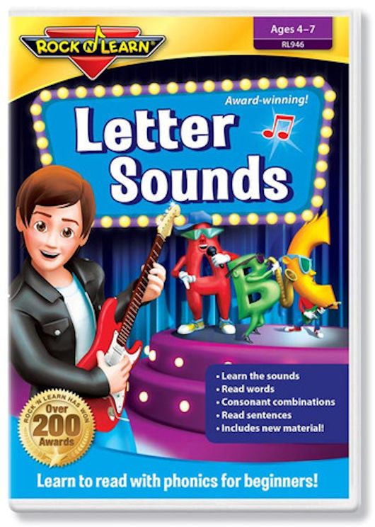 Letter Sounds DVD Video - EducationalLearningGames.com