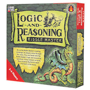 Logic and Reasoning Riddle Master Game, Red Level - EducationalLearningGames.com