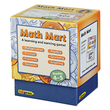 Math Mart Card Game, Grades 4 - 5 EducationalLearningGames.com
