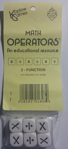 Math Operations Dice Multiplication and Division, Set of 6 EducationalLearningGames.com